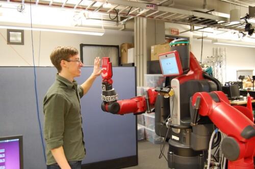 Robot high five!