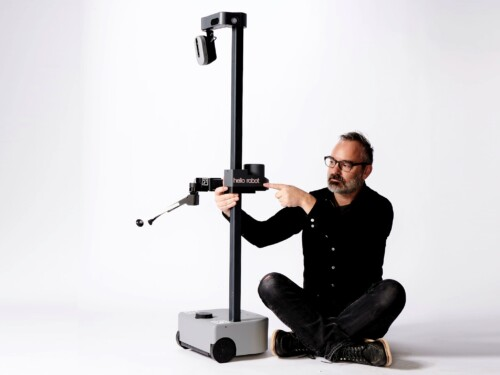 Hello Robot's Stretch robot and CEO Aaron Edsinger
